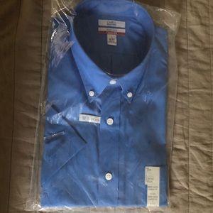 NWT Croft&Barrow Classic Fit Short Sleeve Shirt L